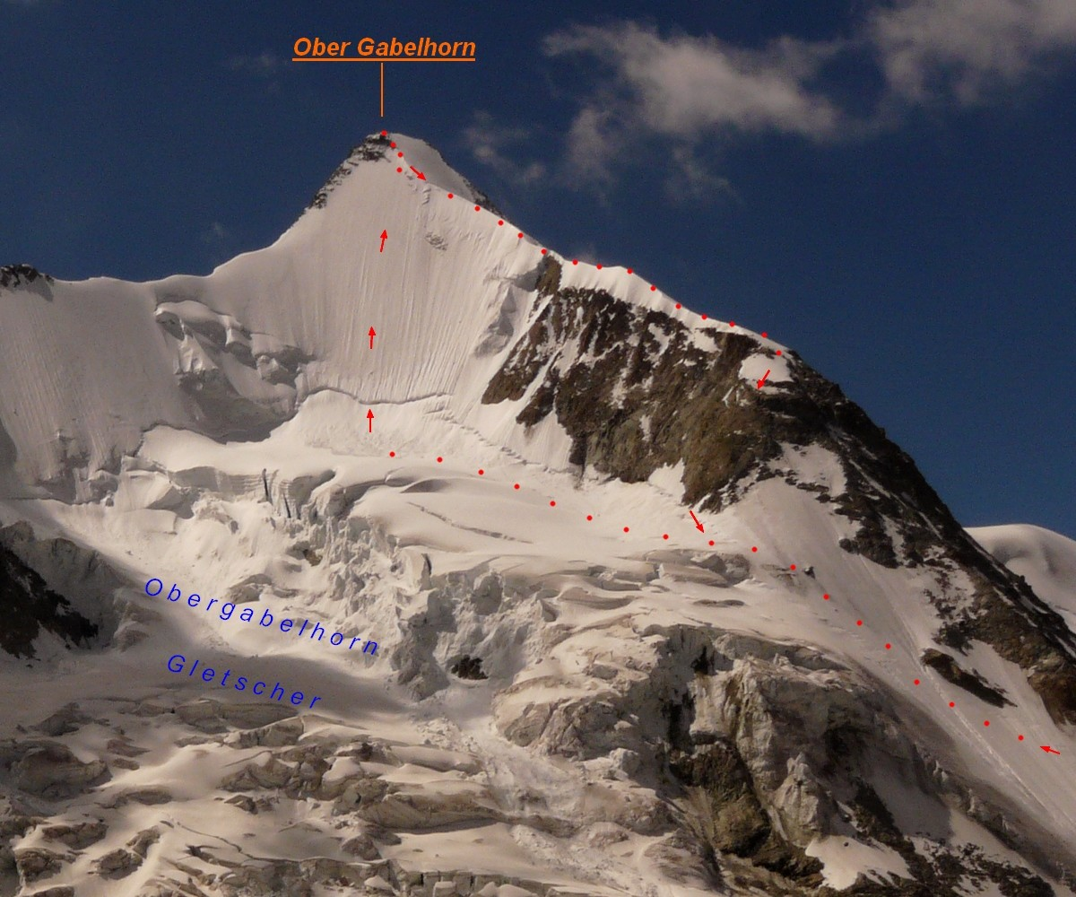 Ober Gabelhorn - face N