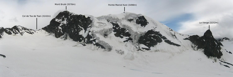 Mont Brulé, Face N