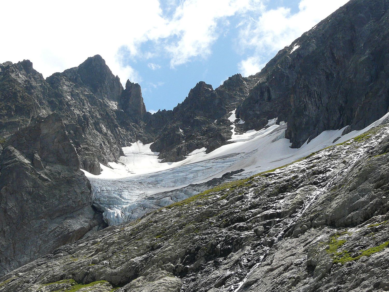 Le col et le glacier du Belvédère