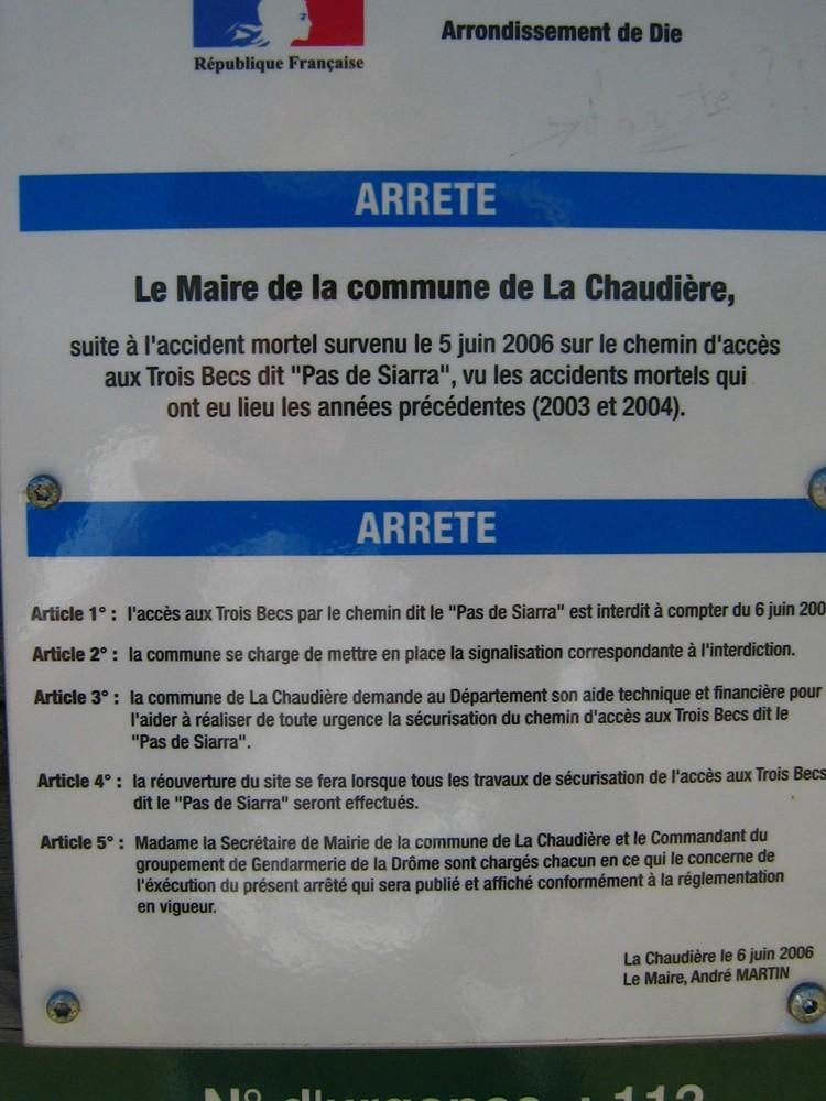 Arrêté Municipal du 6 juin 2006
