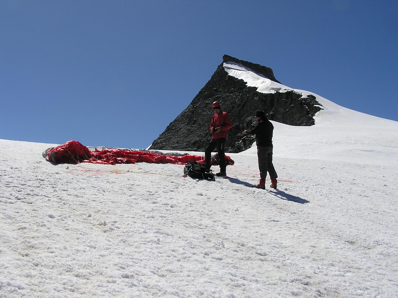 sur le glacier du vallonet