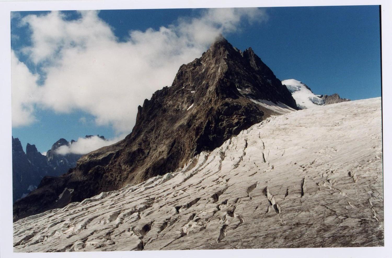 Les crevasses du glacier blanc
