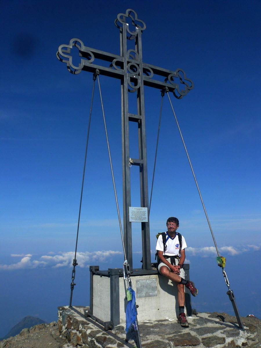 Sommet du Legnone, 2400m droit au dessus du Lac de Come