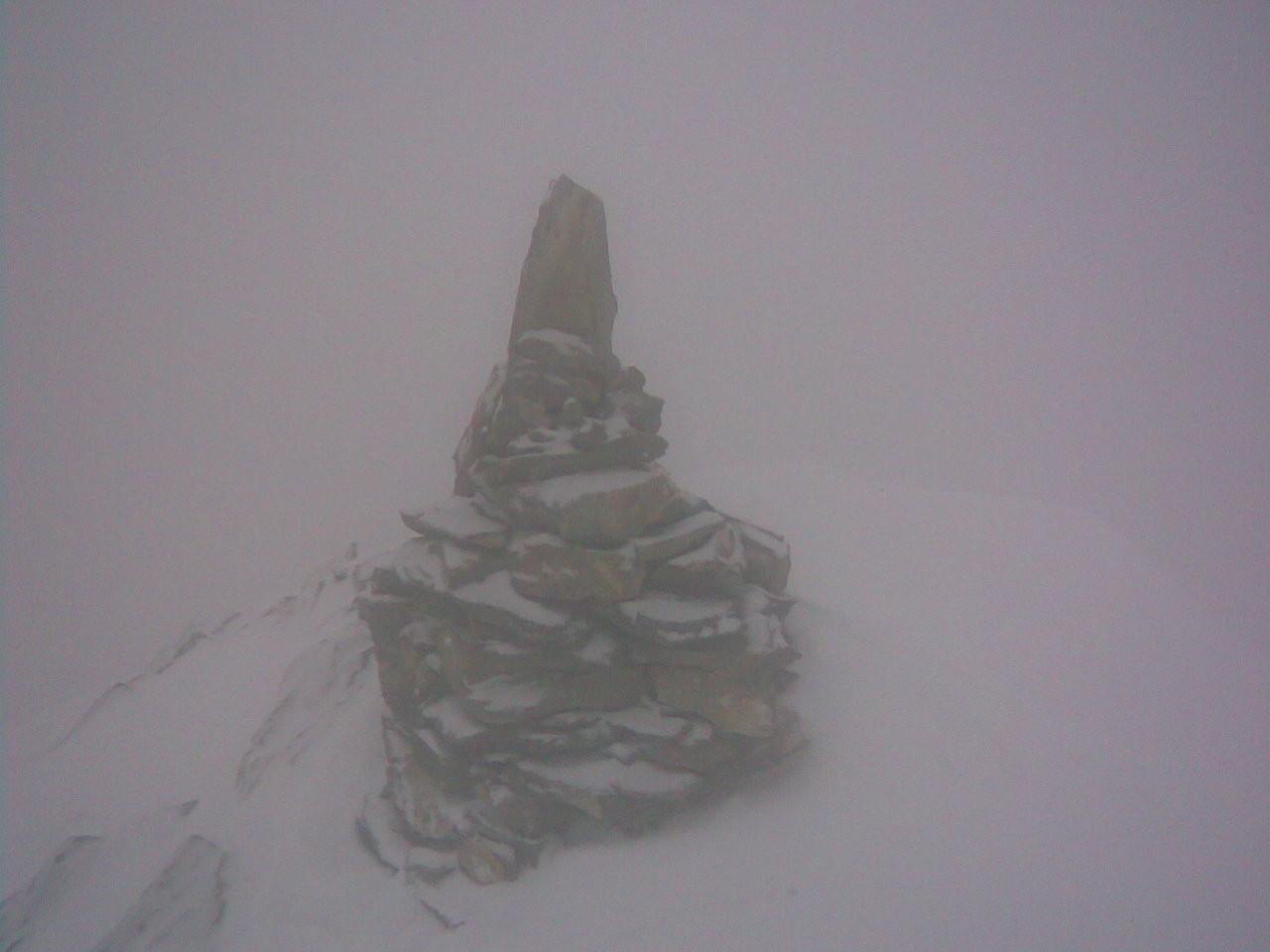 Cairn du sommet comme quoi j'y étais quoique ce pourrait être un montage