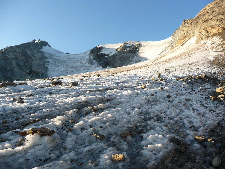 glacier de grd col au petit matin