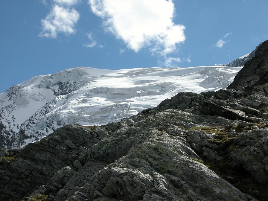 Vue du glacier de la Gurraz du bivouac