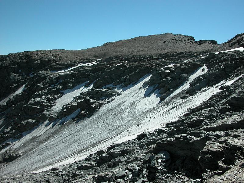 Glacier du Bard et pentes sommitales