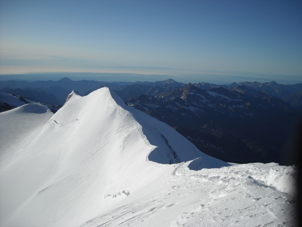 arête finale vue du sommet