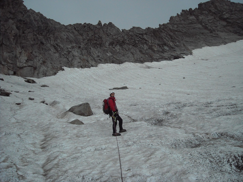 le glacier avant le col