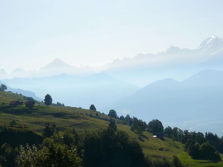 Dégradé de massif de Mont Blanc