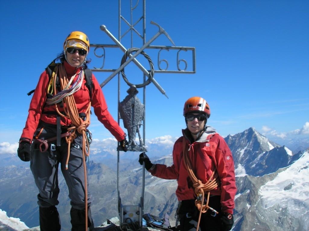Au sommet: Cathy (à gauche) et moi