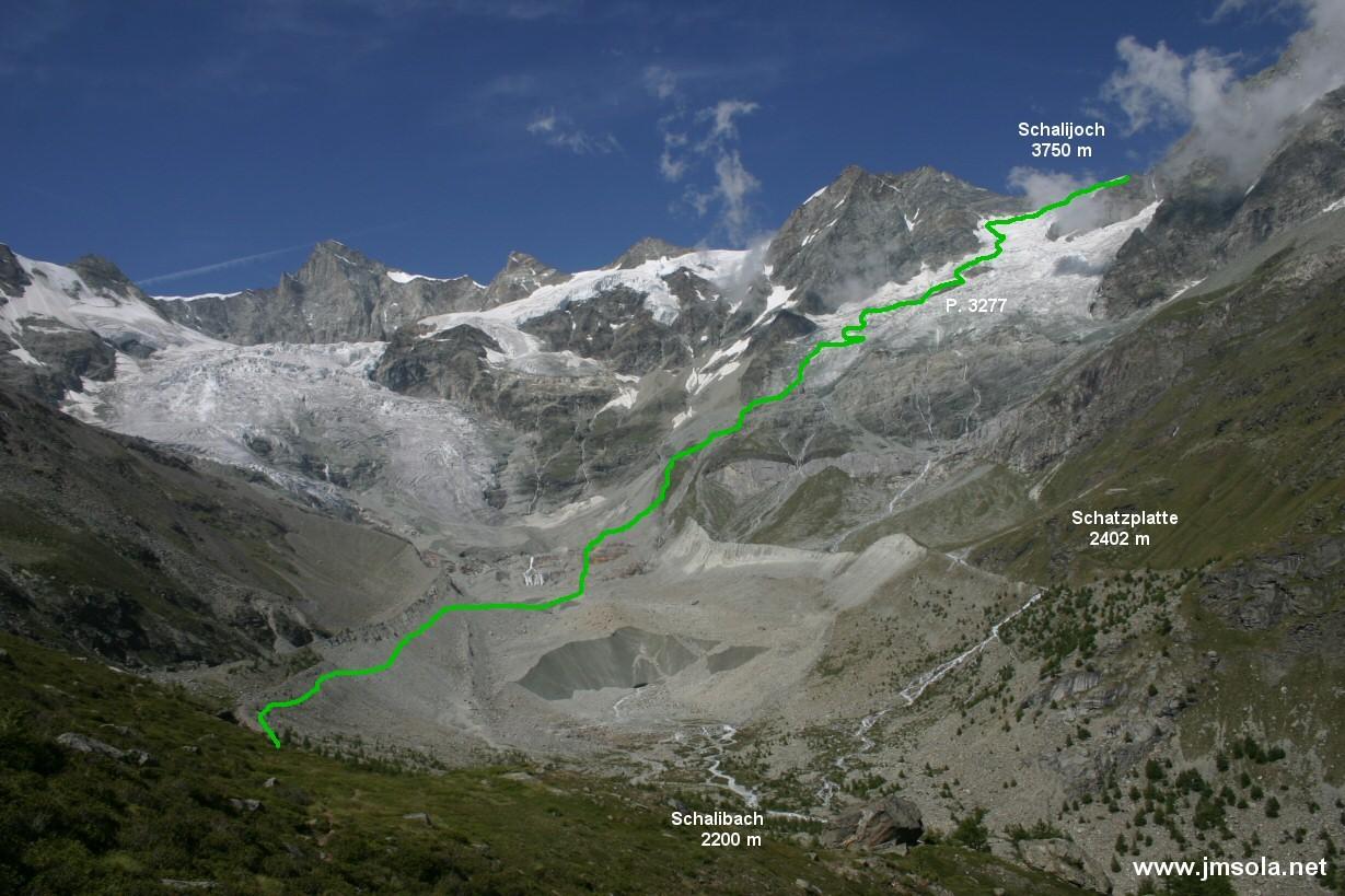 La longue montée au Schalibiwak