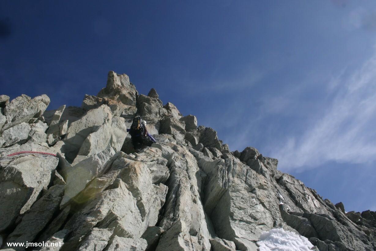 La beauté du rocher du Schaligrat