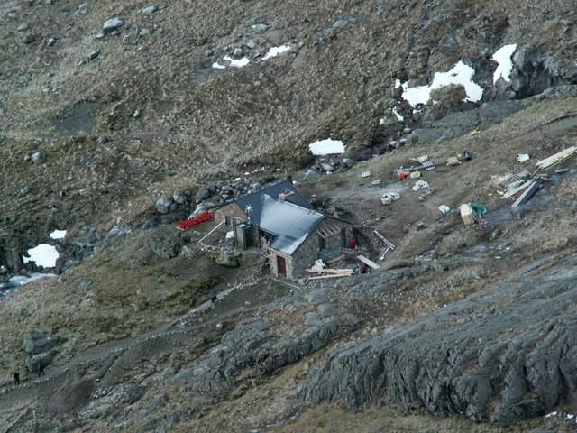 The CIC hut below the N face of Ben Nevis