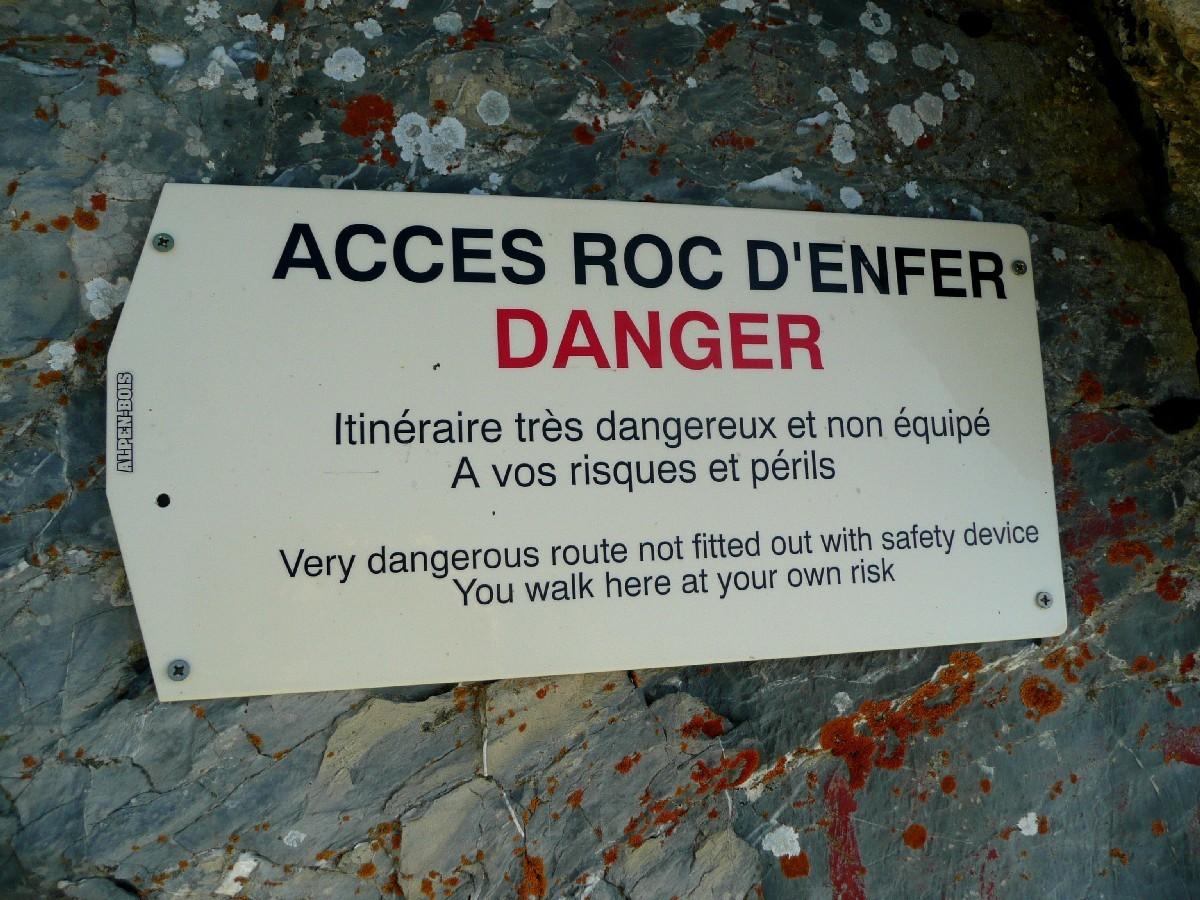 Arêtes du Roc d'Enfer : 2ème avertissement