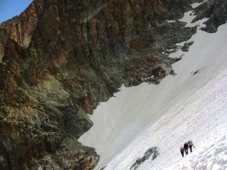 sur le glacier, clot Châtel