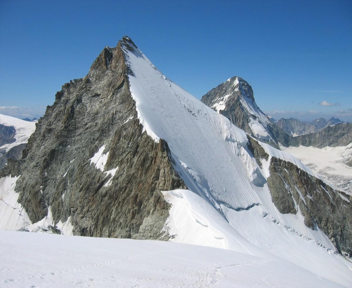 Face N de l'Ober Gabelhorn vue depuis la Wellenkuppe