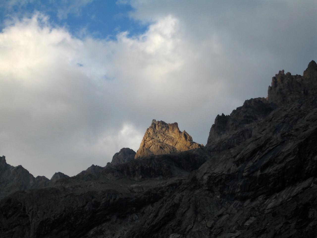 La Pointe des Aigles depuis le refuge du Châtelleret