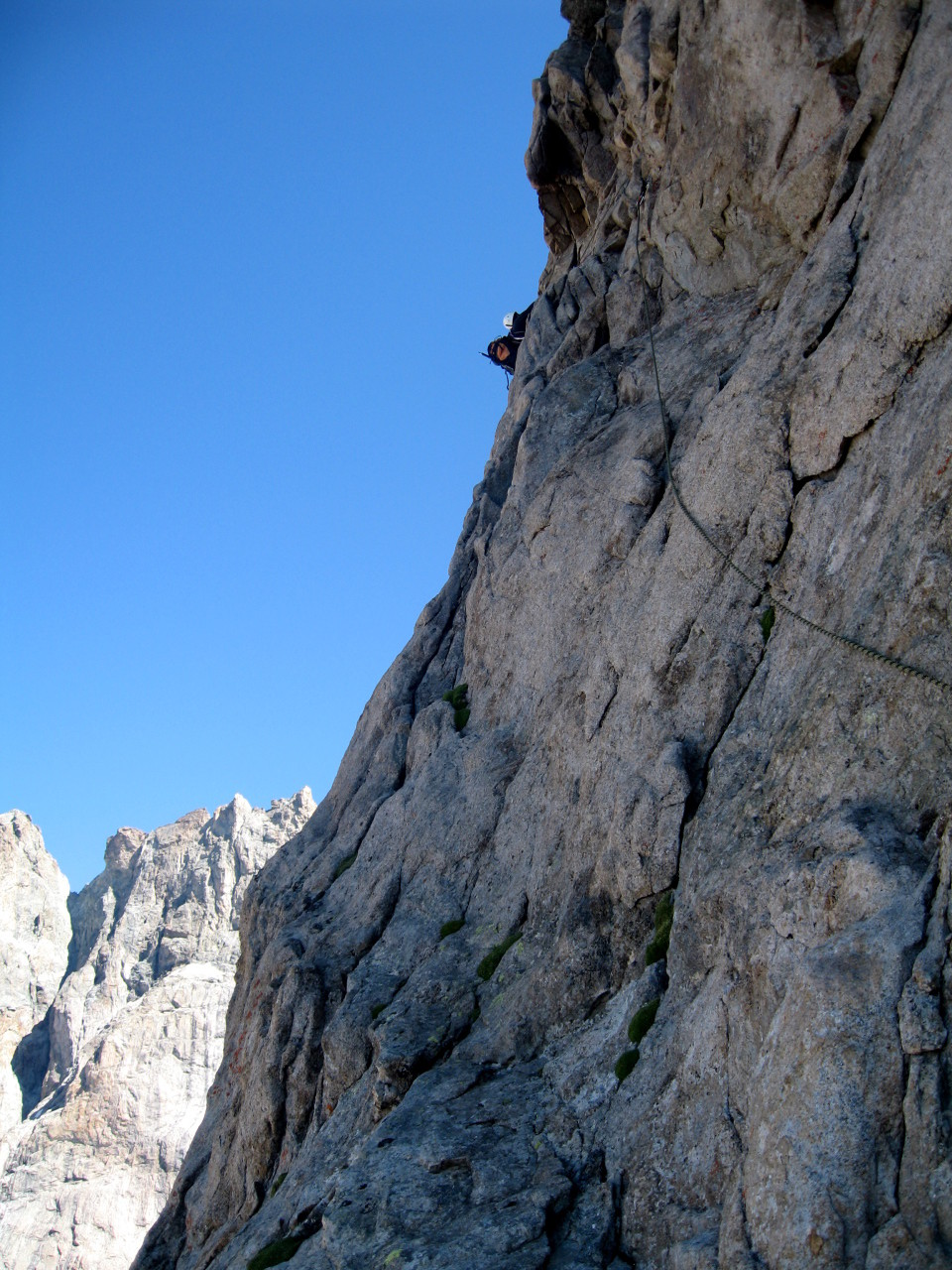 Within the traverse at the start of the third projection