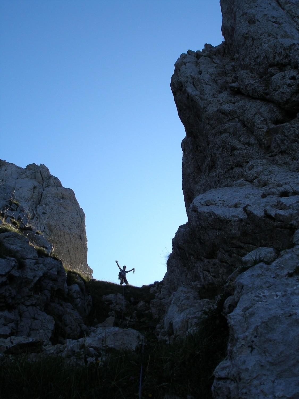 Arètes du Gerbier : La double brèche (versant W)