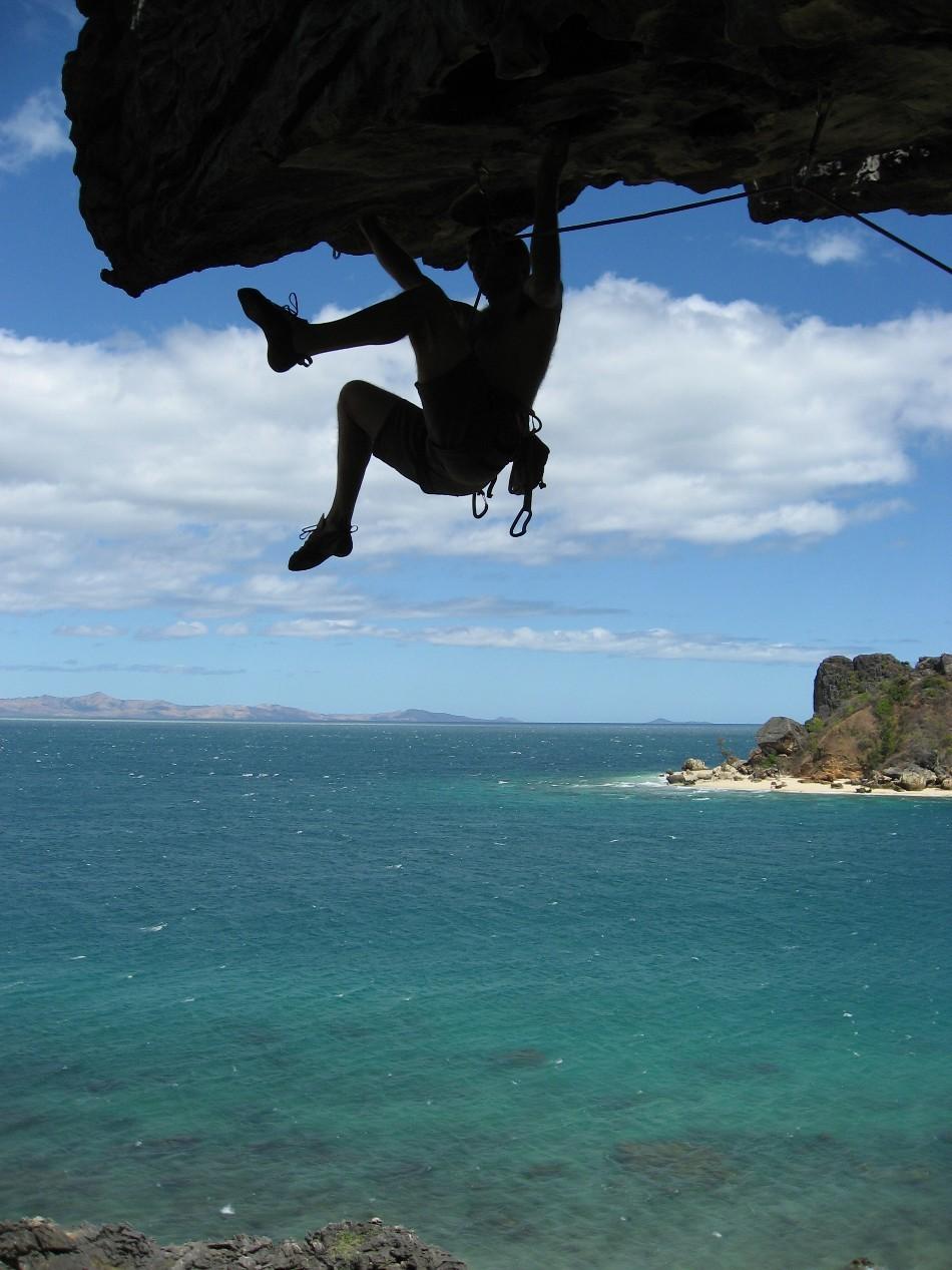 François dans le 8a de l'île Mozambique