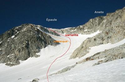 Aneto : glacier des Barrancs