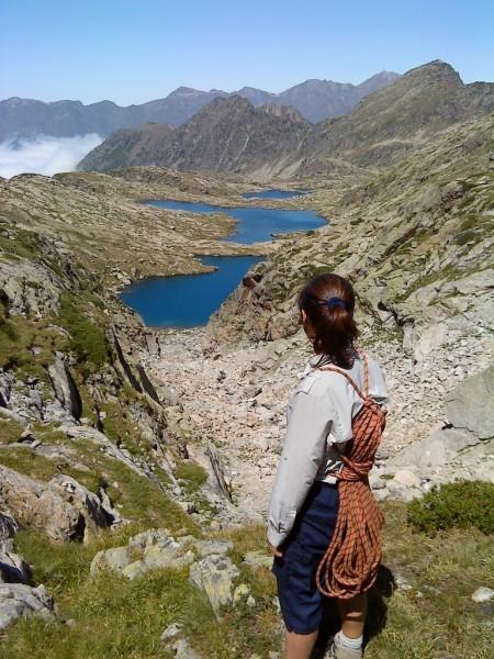 Vue des lacs Estelat depuis la Coume Estrète