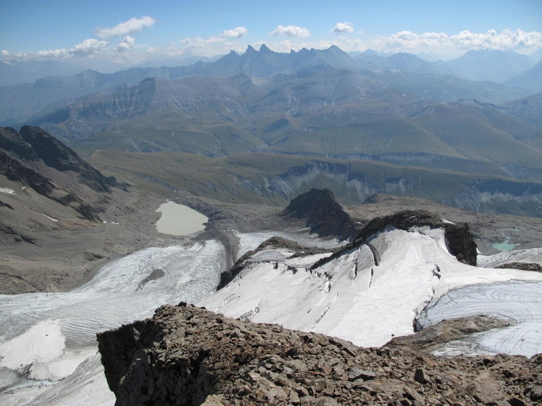 Le glacier des Quirlies avec les aiguilles d'Arves