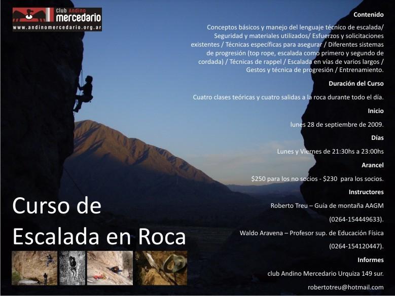 Curso escalada del Club Andino Mercedario 2009