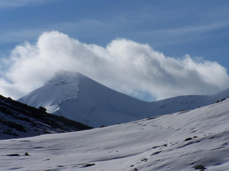 La face NE de la grande Aig.Rousse vue sous le glacier de Bassagne