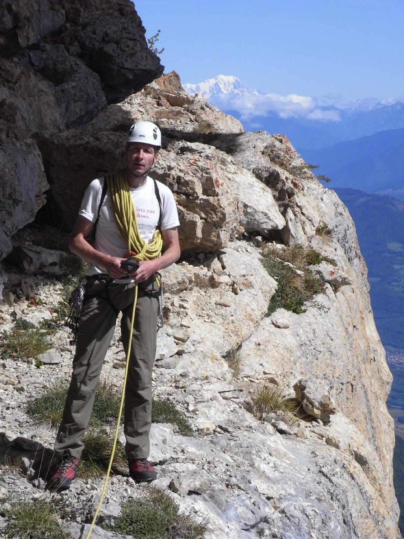 Avec le Mont Blanc en fond
