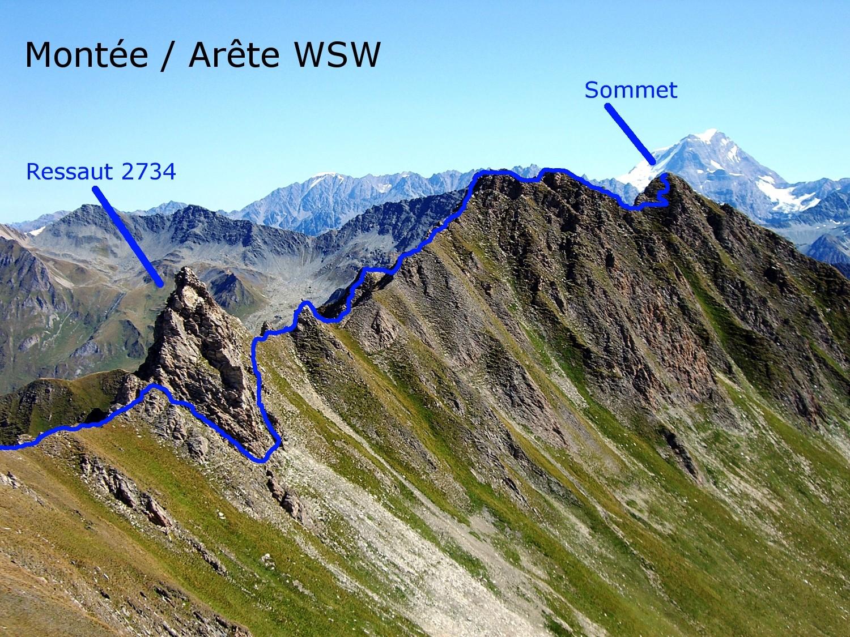 Six Blanc / Arête WSW