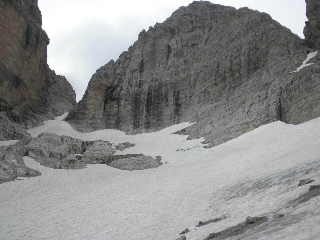Vue sur la Bocca d'Ambiez, versant NW