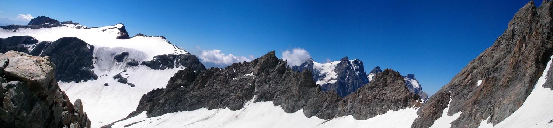 L'autre versant du col vu du glacier du monetier
