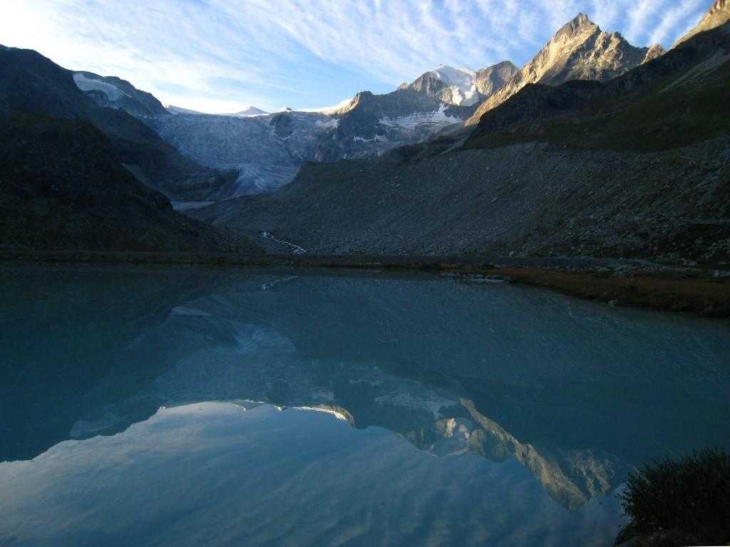 Glacier de Moiry et Pointe de Mourty
