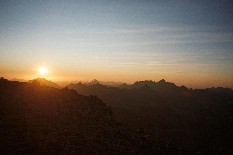 coucher de soleil au col de lady Lyster
