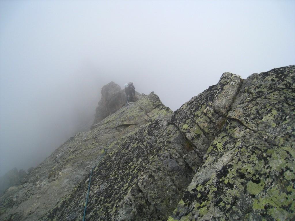 La descente du sommet principal