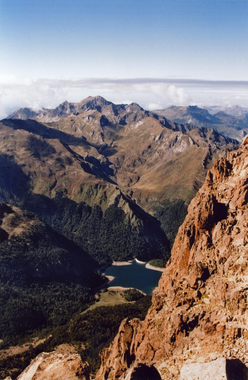 vue du sommet de l'Ossau