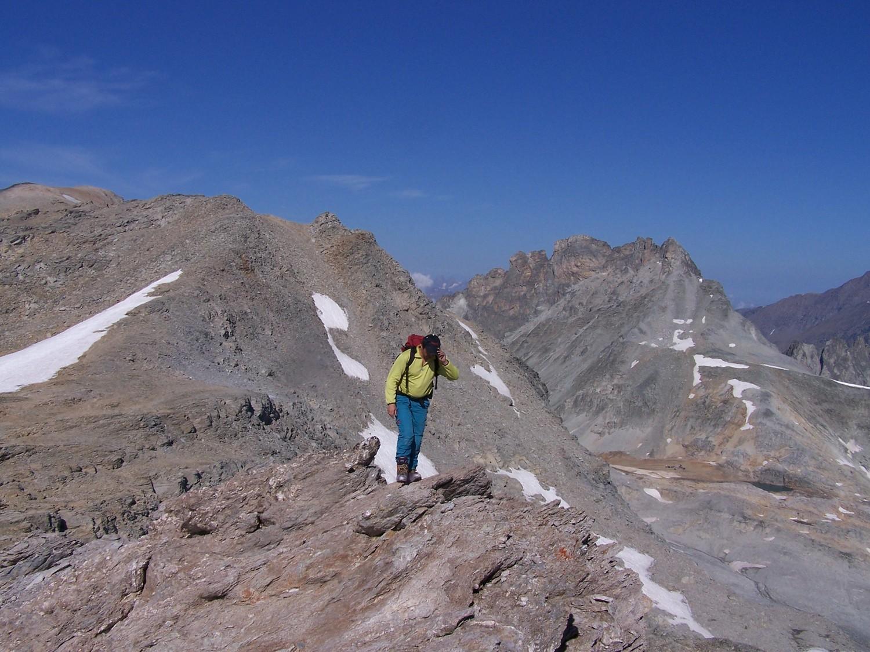 Au sommet de la Pte d'Ambin, Pte du Sommeiller et la Rognosa d'étache