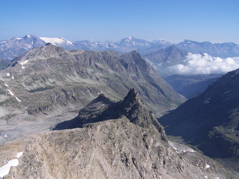 Gd Cordonnier, vallon d'Ambin, Vanoise vu du sommet de la Pte d'Ambin