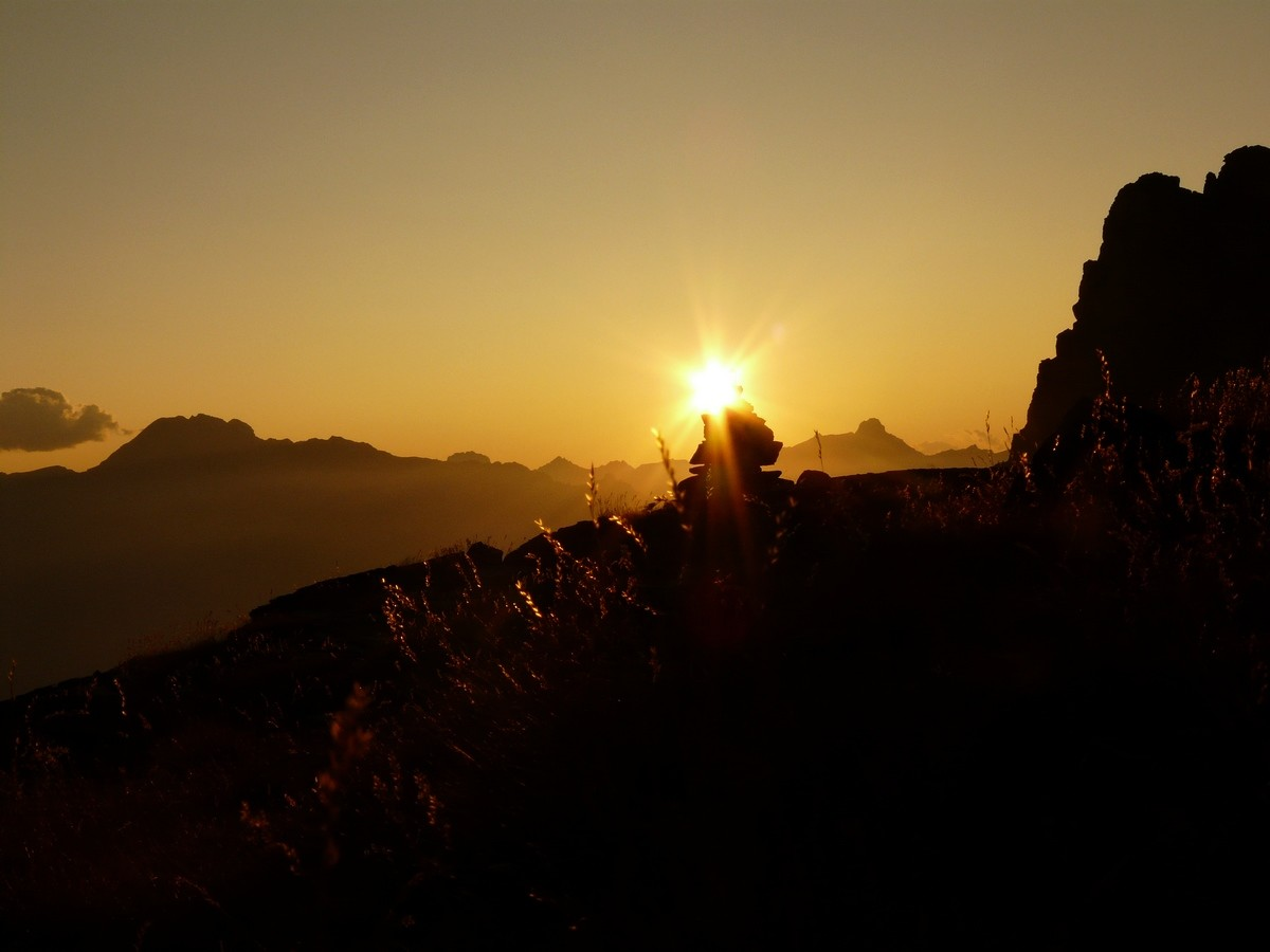Coucher de soleil depuis Bertoglio