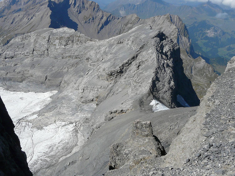 Une partie de l'arête W du Mont Ruan