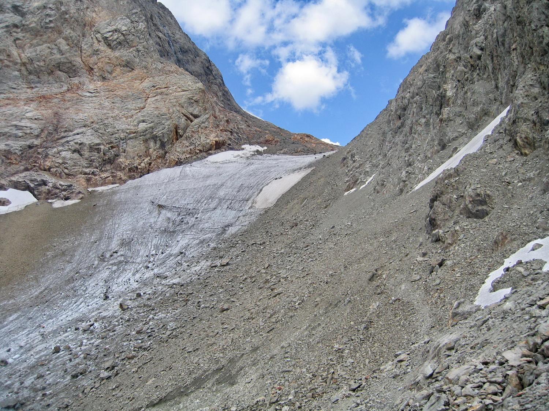 le col des quirlies, de la moraine 2900m