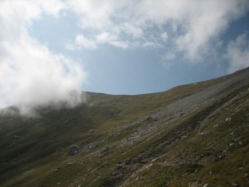 Pointe des Frêtes sous le nuage
