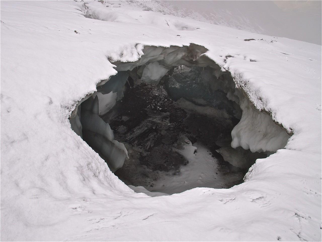 Sur le glacier de la chiaupe