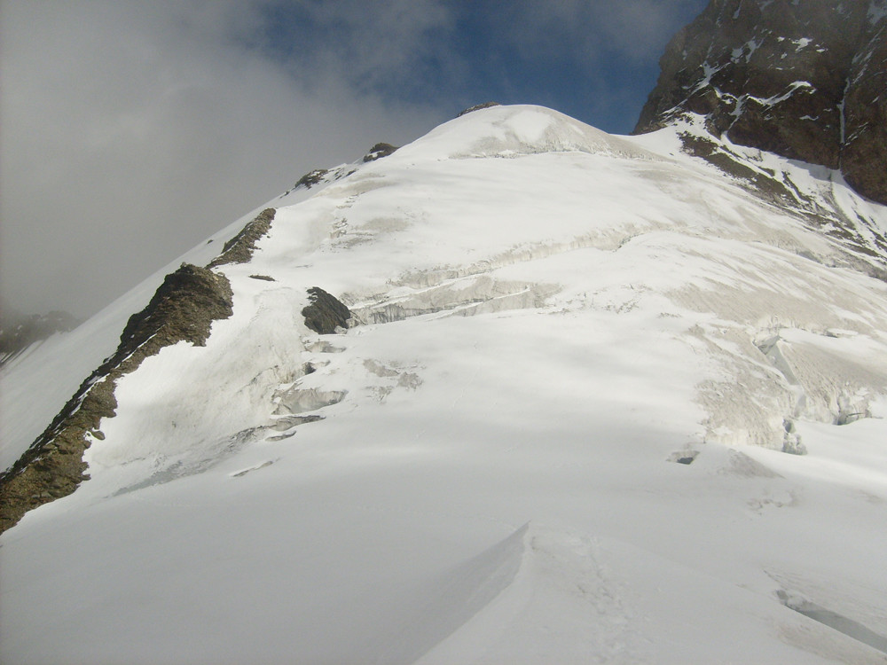 Le Dôme à 3700m, en serrant à gauche pas de galère!