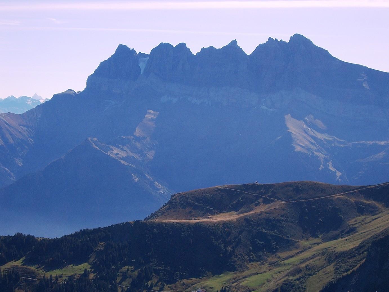Les Dents du Midi depuis le sommet