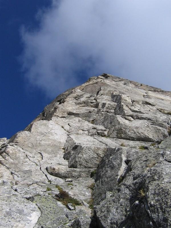 Hochschijen cresta Sud, attacco