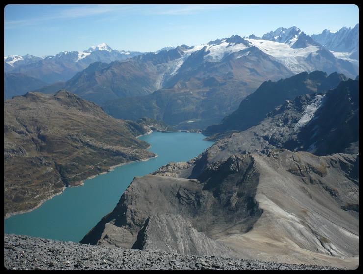 Lac d'Emosson, Aiguille d'Argentière et début des face N