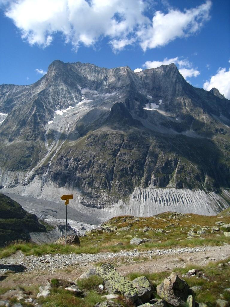 Vers le Bivouac du Col Dt Blanche, l'intersection